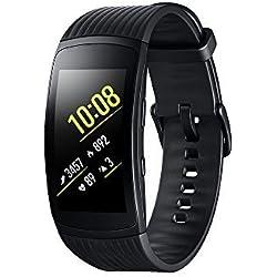 Modelabs Samsung Gear Fit 2 Pro - Seguidor de Actividad con Monitor de Ritmo cardiaco, Talla Large, Negro [Versión importada: Podría presentar Problemas de compatibilidad]