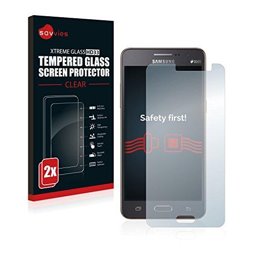 Samsung Galaxy Grand Prime SM-G531F Panzerglas [2er Pack] - Panzerglasfolie Glasfolie Schutzfolie 9H - 2 Samsung Handy Grand