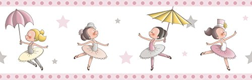 Dandino Cenefa Infantil de Bailarinas, Rosa