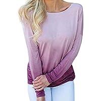 Damen T Shirt,Geili Frauen Sexy Backless Langarm Farbverlauf T-Shirt Damen Herbst Casual Tops Bluse Langarmshirt... preisvergleich bei billige-tabletten.eu