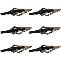 6 pezzi Dentellato Testa larga 100 granelli Dente di sega Lama Motosega Caccia Punto A Freccia