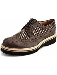 Soldini - Zapatos de cordones de Piel para mujer gris gris 38 6BgF21rY2f