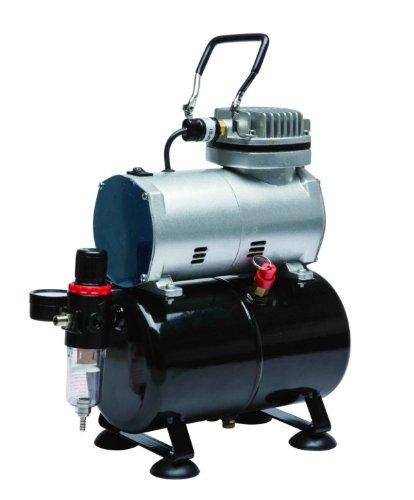 bc-elec–Mini-Kompressor aerographe Modell AS186AS 186mit Reservoir von Air und Regulateur