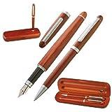 Edles Holz-Schreibset bestehend aus Kugelschreiber und