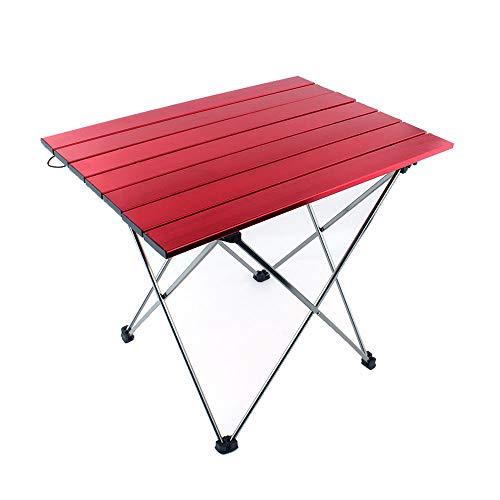 GKPLY Table de Pique-Nique en Plein air Escalade Super Alliage Table Pliante Barbecue Camping Table de Pique-Nique Portable Simple Petite Table Mini (Couleur: Rouge)