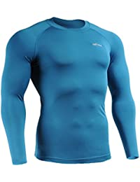 emFraa Homme Femme Sport Compression Base layer Tee-Shirt Long sleeve S~XXL
