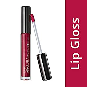 Lakme Absolute Plump and Shine Lip Gloss, Cherry Shine, 3 ml