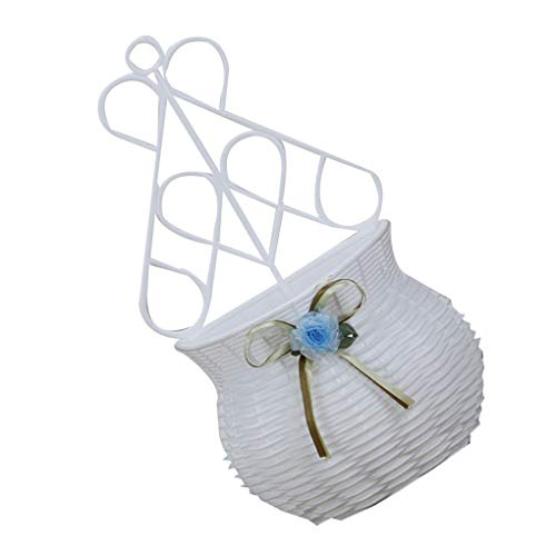 Lindahaot Simple Wall Hanging Basket White Plastic Pot Planters Simulation Flower Arranging Device Home Decor Blue