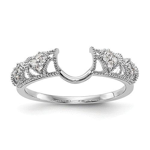 Ringschutz, 14 kt Weißgold, Diamant (0,104 ct, H-SI2) -