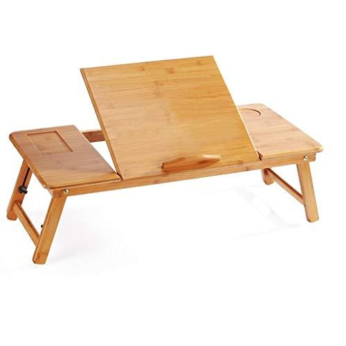 Anah Laptop-Schreibtisch, Laptop-Tisch aus Bambus Verstellbarer Lap-Tablett Großes Bett Tablett Frühstückstisch Faltbarer Notebook-Schreibtisch (Bett Log-ausziehbares)