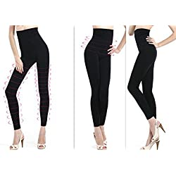 Minimize Leggigngs Slimming Belly Busting Anti-Cellulite Women Ladies Girls Firming Smoothing Seamless Hight Waist Shape Curve Control up Tummy Support Size S to 3XL (8 to 30) Only £7.49