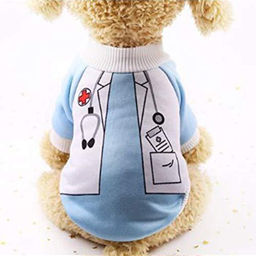 WESEEDOO Hundekleid Haustier Kleid Hund Sweatshirt Krankenschwester Fancy Transformed Dress Warm Ideal Für Kleine Mittelgroße Hunde (Brief E Fancy Dress Kostüm)