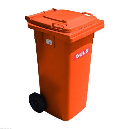 *Mülltonne Müllbehälter 120 l orange*