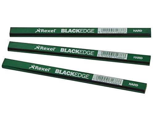 Blackedge Tischler Bleistifte–Grün/Hart Karte 12Stück