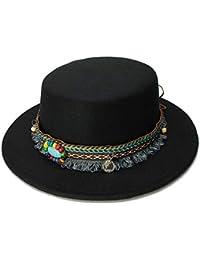 b7e646ae54539 Gorras Sombreros ala Ancha Fedora Pure Felt Bowler Hat Stitching Bucket Hat  Mujeres Estilo británico Feminino