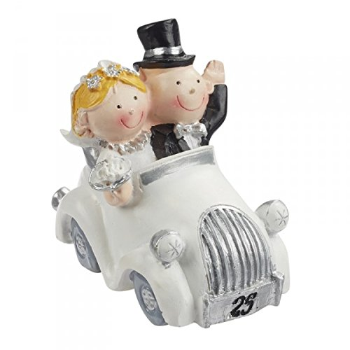 Hobbyfun Wedding Silver Wedding Couple 25 couple years in the Car Decorate Cakes, 5,5 Wedding cm