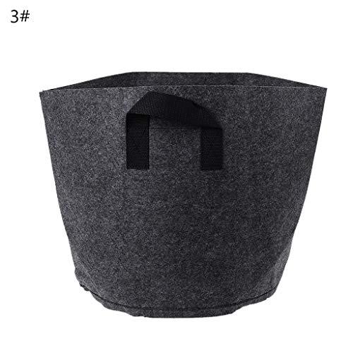 Jiay Black Felt Töpfe für Pflanzen, Kulturbeutel, Wurzeltasche, Container, Garten, Pflanzentöpfe, Zubehör 3