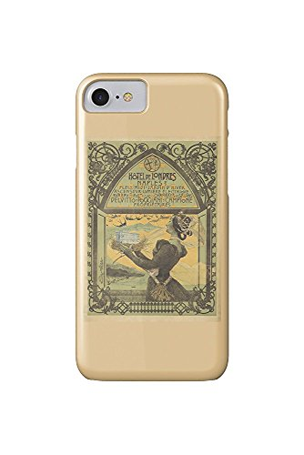 Hotel de Londres Vintage Poster (artist: Mataloni) Italy c. 1897 (iPhone 7 Cell Phone Case, Slim Barely There) (Hotel Londres)