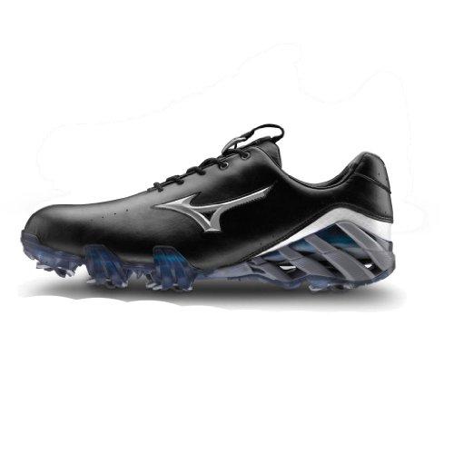 Mizuno Genem Dry Style Chaussures de golf pour homme noir Noir Size 8