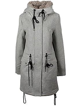Khujo Ramya abrigo de lana grey melange