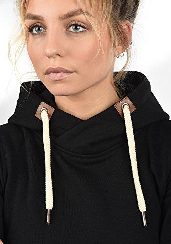 DESIRES VickyHood Damen Damen Hoodie Kapuzenpullover Pullover Mit Kapuze Cross-Over-Kragen Und Fleece-Innenseite, Größe:S, Farbe:Black (9000) - 6