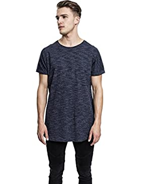 Urban Classics Long Space Dye Turn Up Tee, Camiseta para Hombre