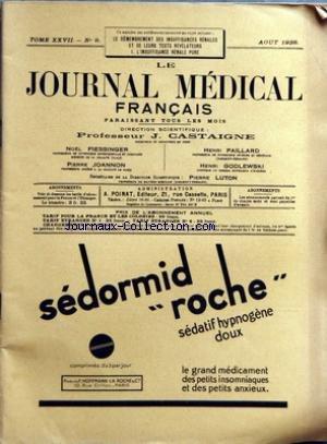 JOURNAL MEDICAL FRANCAIS (LE) [No 8] du 01/08/1938