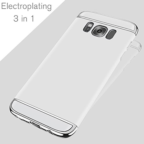 For Custodia Apple iPhone 6S/6 Plus,HAVE1SEE Hybrid 3 in 1 Ultra Thin Anti-Drop Anti-Skidding Scratch Resistant Shockproof Metal Textured Grip Case for Apple iPhone 6S/6 Plus Silver Argento