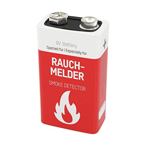 1 pile Lithium -format 9V- ANSMANN pour détecteur de fumée / stockage jusquŽá 10 ans / excellente qualité / idéal pour les détecteurs d'incendie, les systèmes d'alarme & les appareils médicaux
