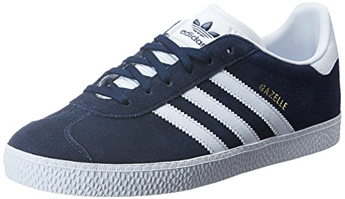 adidas Gazelle, Baskets Basses Mixte Enfant, Bleu (Collegiate Navy/Footwear White/Footwear White), 38 EU
