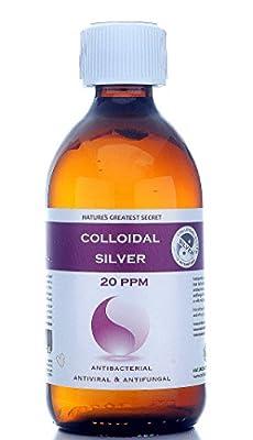 Premium Quality Colloidal Silver 20 ppm Bottle 300ml High pH 9.0