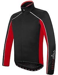 RH + Zero Jacket, chaquetas (Ciclismo) Hombre, Black-Red, L