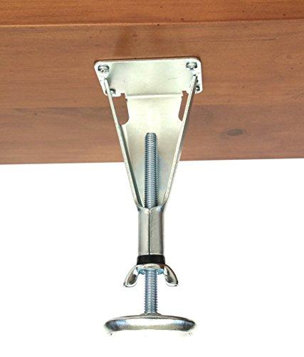 Choice Parts Plattform Bett Mitte Latte Stützfuß modern & extra haltbare Stahlmöbel Fuß höhenverstellbar | kein Kratzer Glide -