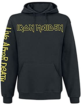 Iron Maiden Live After Death Sudadera con Capucha Negro