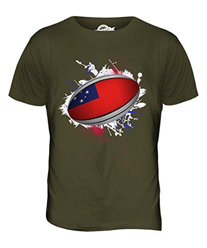 CandyMix Samoa Rugby Ball Herren T Shirt Khaki Grün