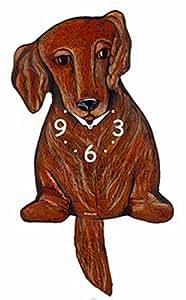 Horloge murale Motif teckel poil Long marron la Queue APD-Horloge murale-Horloge-Chien