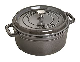 Staub Cocotte Redonda, Hierro Fundido, Gris Grafito, 28 cm (B000RC0MK4) | Amazon price tracker / tracking, Amazon price history charts, Amazon price watches, Amazon price drop alerts