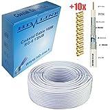 HD-LINE CAB 130db - Cable coaxial (130 dB, para TDT y antena parabólica)