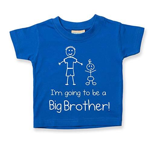 I'm Gehe to Be A Großer Bruder Blau T-Shirt Baby Kleinkind Kinder Erhältlich in Größen von 0-6 Monate Neu Baby Bruder Geschenk - Blau, 12-18 Months - Blauer Kleinkind-t-shirt