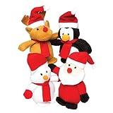 Baker Ross Weihnachtliche Mini Bean Pal Kuscheltiere für Kinder als Kleine Überraschung im Nikolausstiefel Oder als Preis Bei Partyspielen (4 Stück)