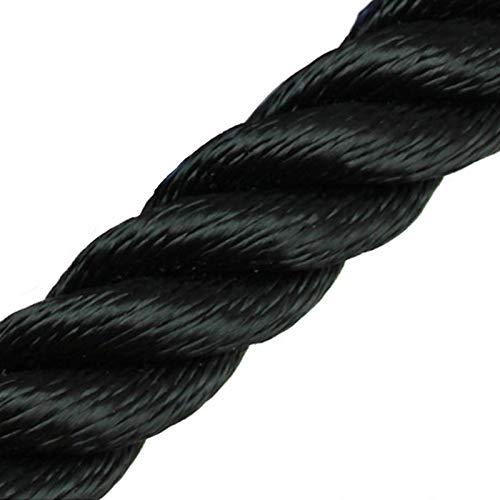 Handlaufseil Absperrseil 30 mm - 4fach geschlagen Farbe: schwarz