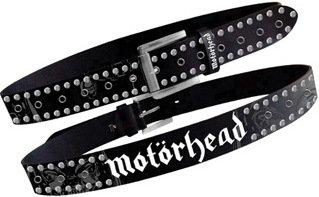 Motörhead Cintura Black Grommet Studs Belt Cintura Borchiata Taglia M 95cm Cintura in pelle Size 32-34
