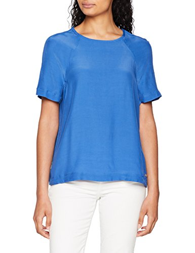 Tommy Hilfiger RAE Top SS, Blusa Mujer, Azul (Bright Cobalt 381), 40 (Talla del Fabricante: 38 8)