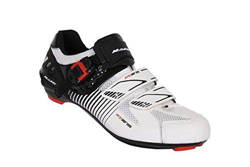 Massi Argo - Chaussures route unisex Blanc / noir