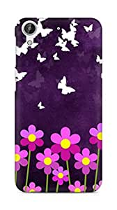 Amez designer printed 3d premium high quality back case cover for HTC Desire 626 LTE (Butterfly n Flowers)
