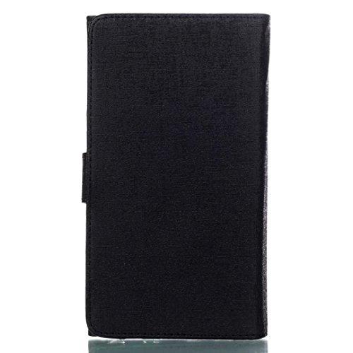 Cross Lines Texture Dreifach Typ PU Leder Brieftasche Case mit freistehenden TPU Back Cover Card Slots für Samsung Galaxy S8 Plus ( Color : Gold ) Black