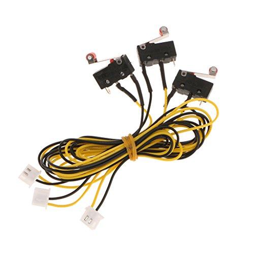 Gazechimp 3D Drucker Endschalter mit Kabelsatz Effektive Schutz-Signal störungsfrei - gelb - - Endschalter Mikroschalter