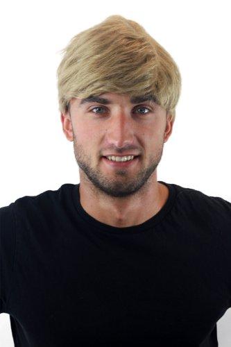 Herrenperücke Perücke Männer Kurz Jugendlich Lässig Modisch Blond Toupet Neu GFW1168-24 (Haare Herren Perücke Kurze)