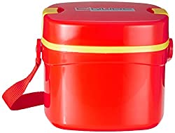 Cello Qube Plastic Container, 1.25 Litres, Red