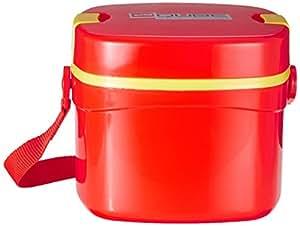 Cello Qube Plastic Container, 1.25 Litres, Red